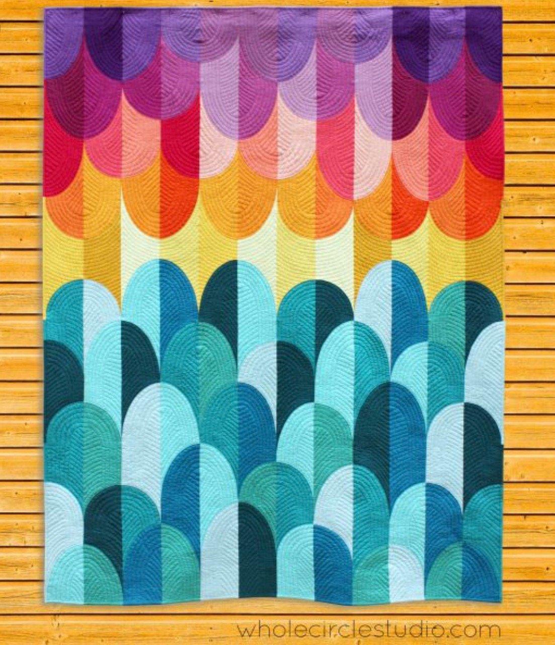 Big Island Sunset Quilt Kit - Pattern by Sheri Cifaldi-Morrill and Fabric by Robert Kaufman Kona Cottons
