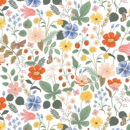 Strawberry Fields - Ivory Fabric - By Anna Bond For Rifle Paper Co.