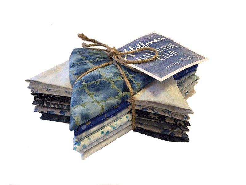 Hoffman Bali Batik Club Bundle - January - Frost