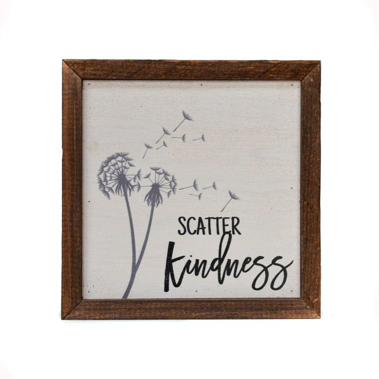 Scatter Kindness Wall Art - 6 x 6 - by Driftwood Studios