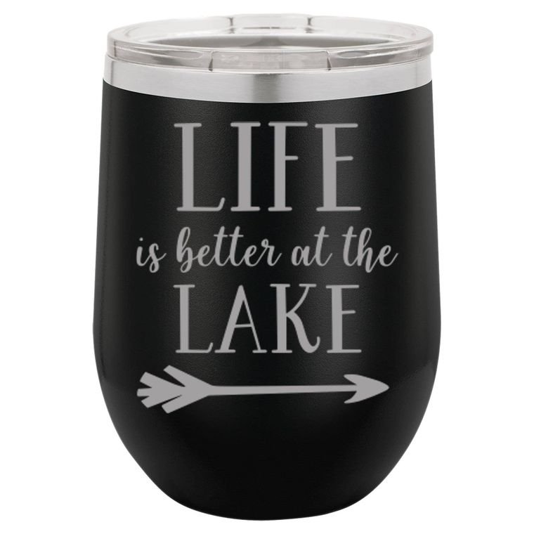 Life Is Better at the Lake - 16oz. Coffee and Tumbler - by Driftless Studio
