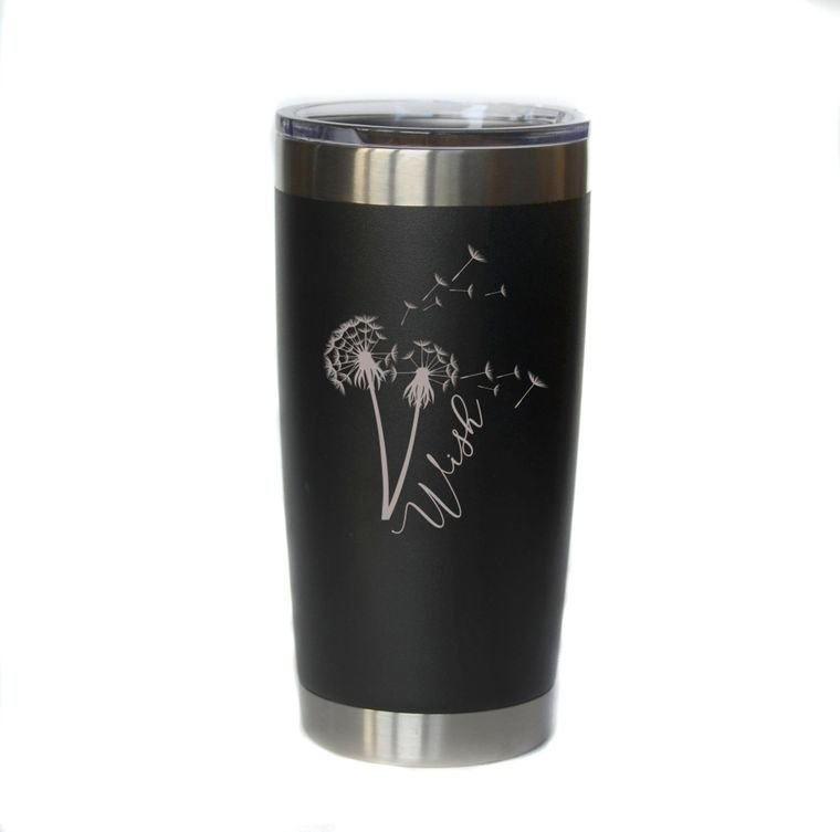 Wish Engraved Coffee / Cocktail Tumbler - 20 ounce - by Driftless Studio