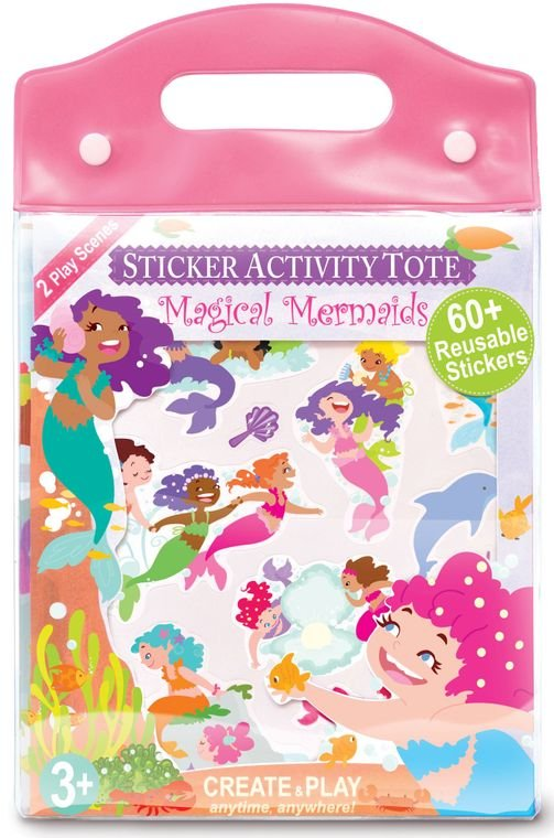 Magical Mermaids Sticker Activity Tote - by The Piggy Story