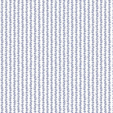 Strawberry Fields - Laurel Stripe Periwinkle - By Anna Bond For Rifle Paper Co.