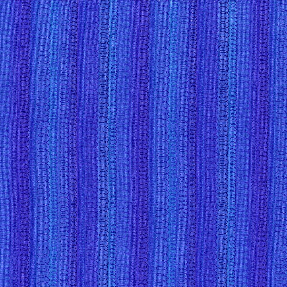 Hopscotch - Loop De Loop, Electric Blue - by Jamie Fingal for RJR