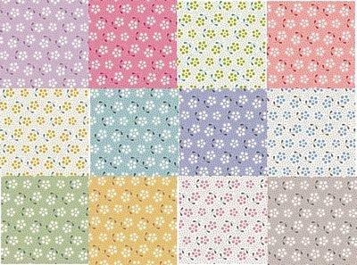 Meadow Basics - Half Yard Bundle- by Tilda  - Includes 12 Half Yards