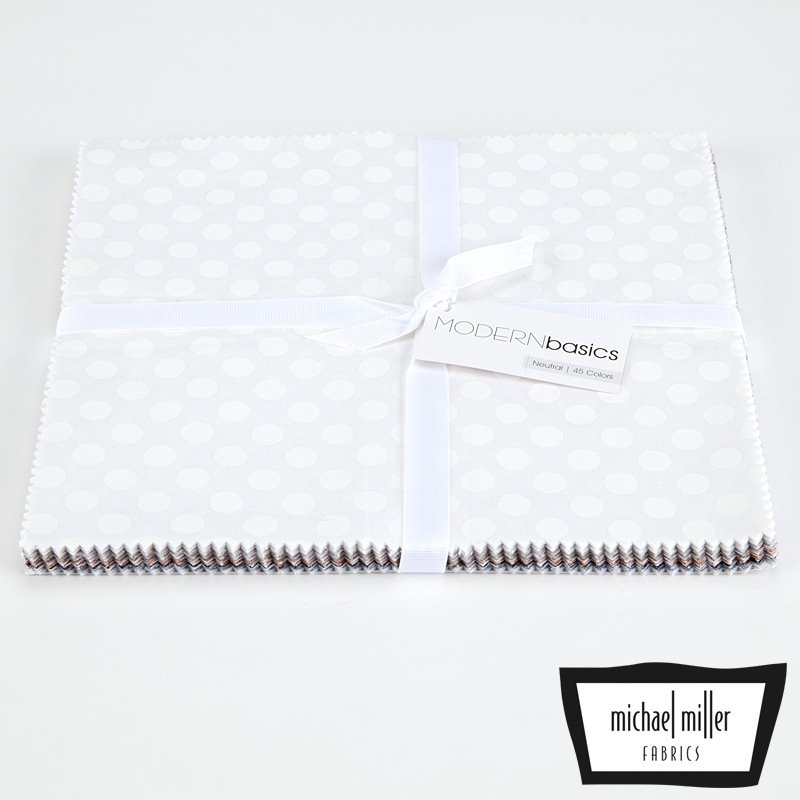 Modern Basics - Neutral - Layer Cake 45 Colors 10 x 10 - By Michael Miller Fabrics