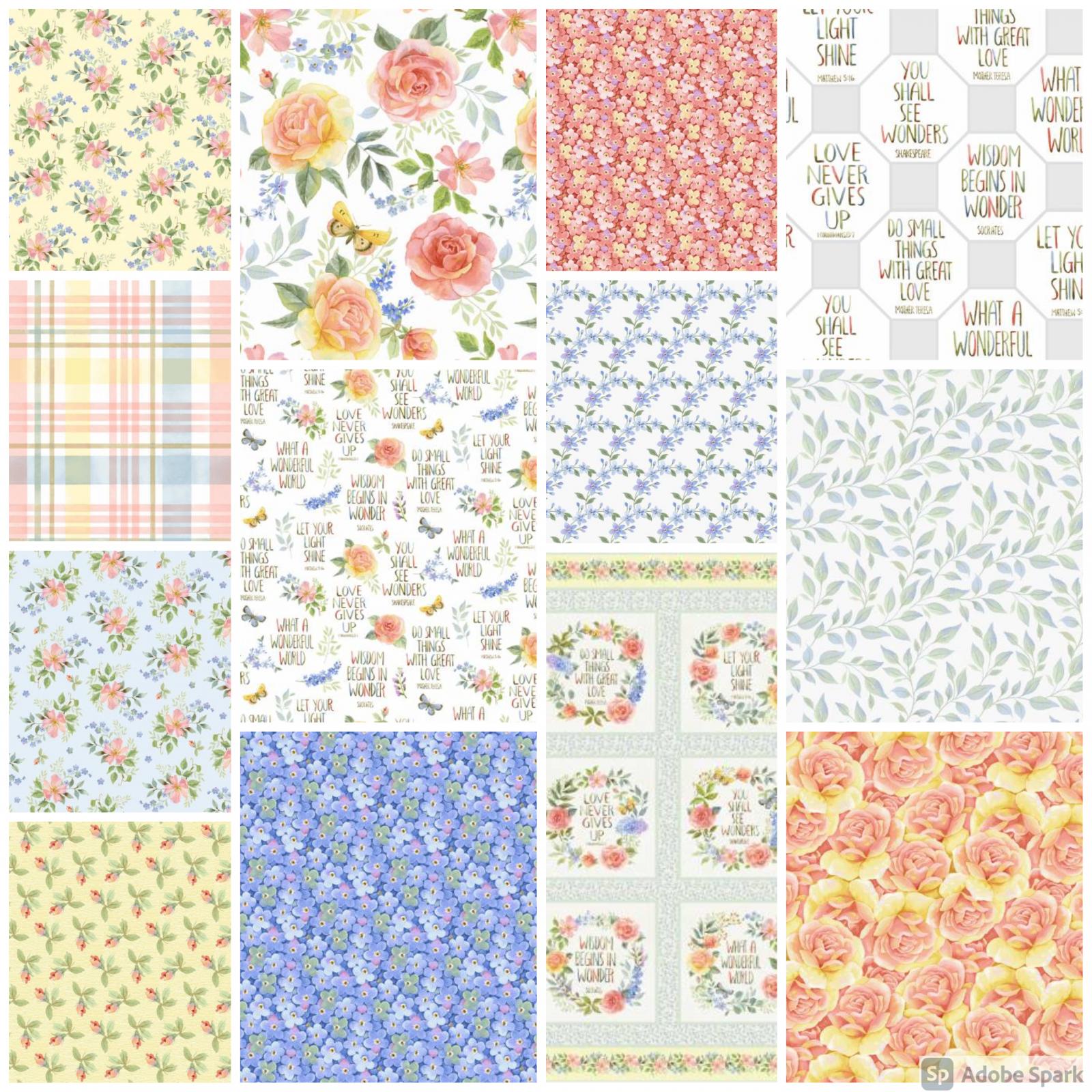 Garden Inspiration - Fat Quarter Bundle - By Jane Allison for Henry Glass Co.