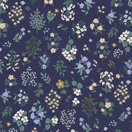 Strawberry Fields - Navy Fabric - By Anna Bond For Rifle Paper Co.