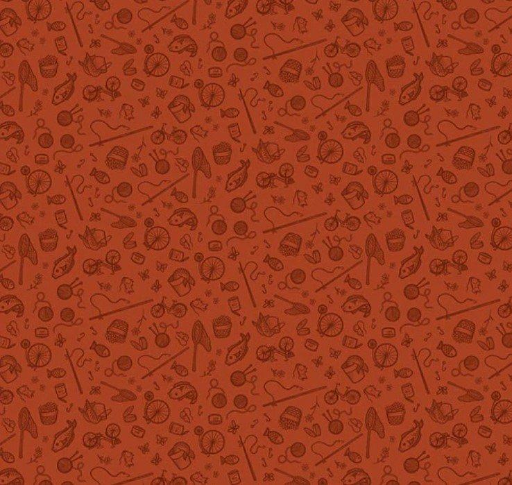 Cat Tales - Rust Essentials - By Dena Designs For Freespirit Fabrics