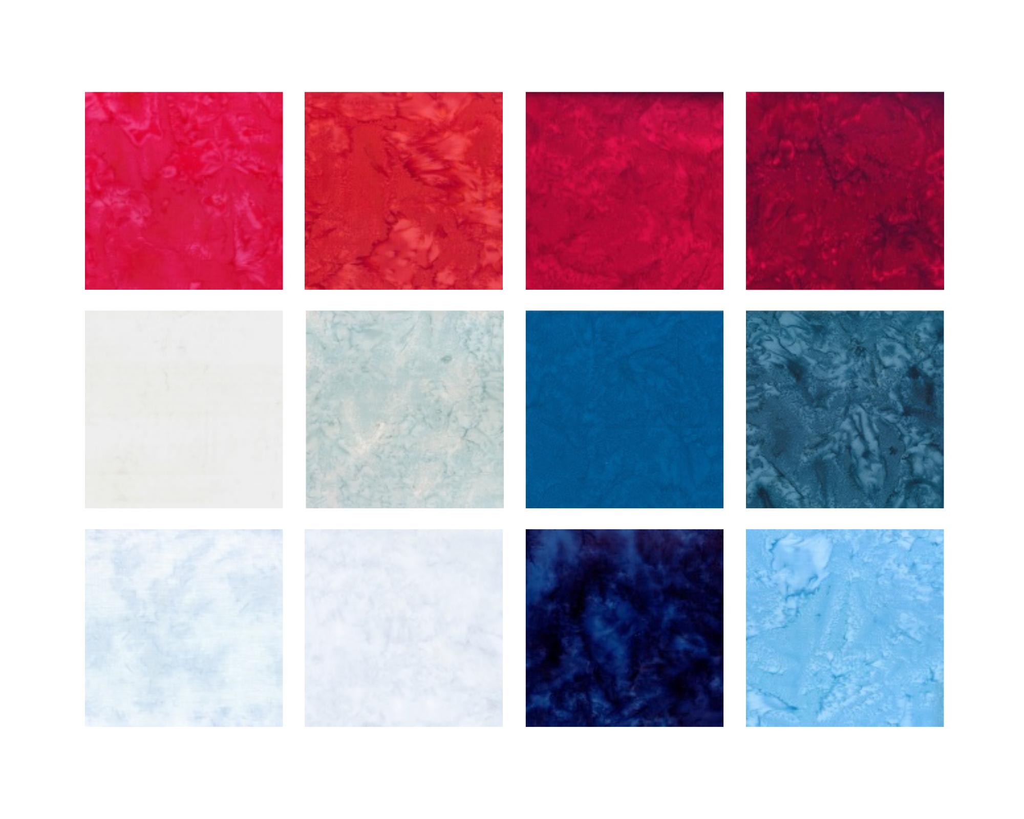 1895 Batiks - Patriotic Palette Of The Season - By Hoffman Fabrics