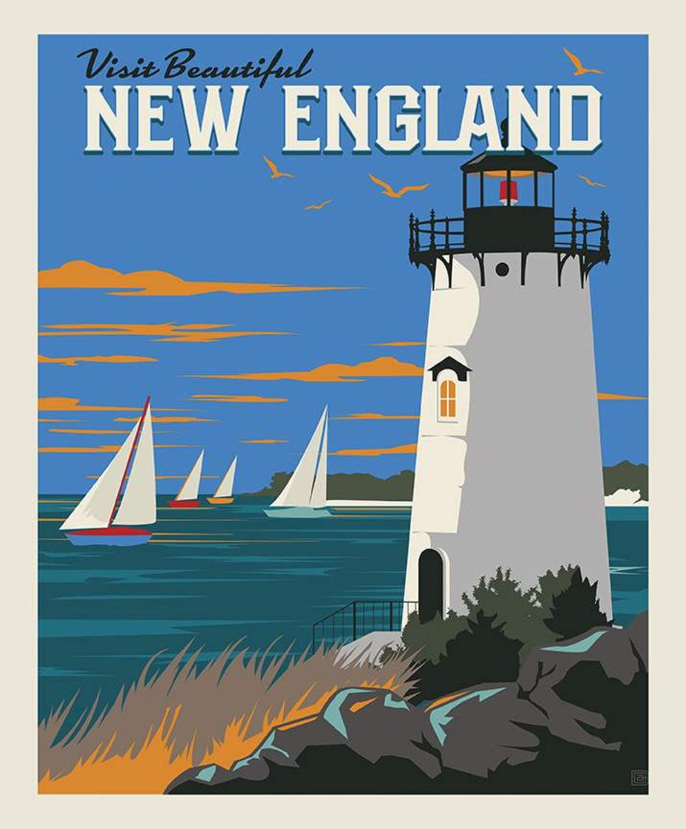 Destinations - 36 New England Panel - By Anderson Design Group for Riley Blake