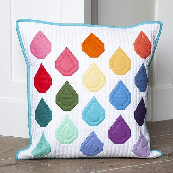 Riley Blake Pillow of the Month - April Showers - By Sedef Imer of Down Grapevine Lane