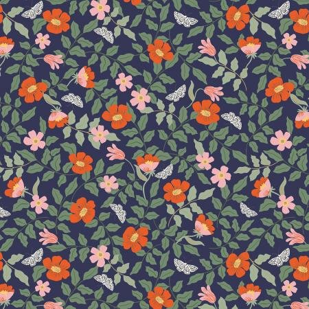 Strawberry Fields - Primrose Navy - By Anna Bond For Rifle Paper Co.