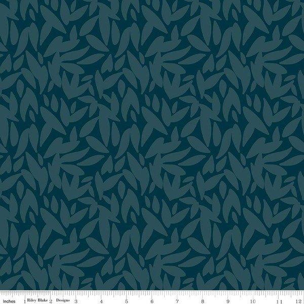 Designer Rayon - Leaves Midnight - By Corri Sheff For Riley Blake Fabrics