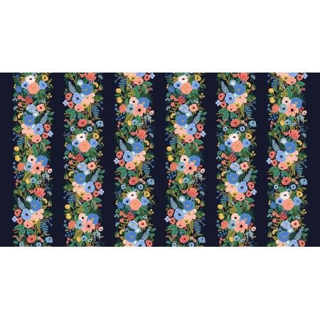 Cotton + Steel Wildwood by Rifle Paper Co - Garden Party Vines, Navy