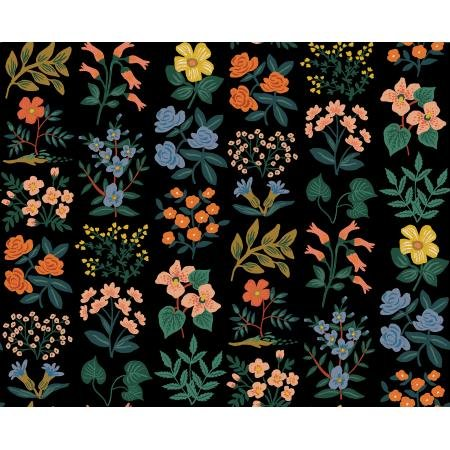 Meadow - Wildflower Field, Black Canvas - by Rifle Paper Co for Cotton + Steel