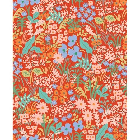 Meadow - Meadow, Red - by Rifle Paper Co for Cotton + Steel