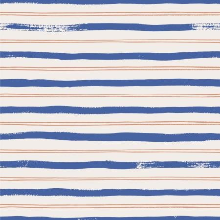 Meadow - Stripes, Blue - by Rifle Paper Co for Cotton + Steel
