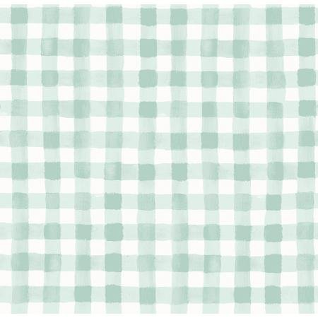 Meadow - Painted Gingham, Mint Green - by Rifle Paper Co for Cotton + Steel