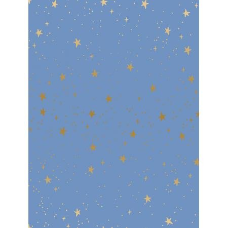 Primavera - Stars, Periwinkle Metallic - by Rifle Paper Co for Cotton + Steel