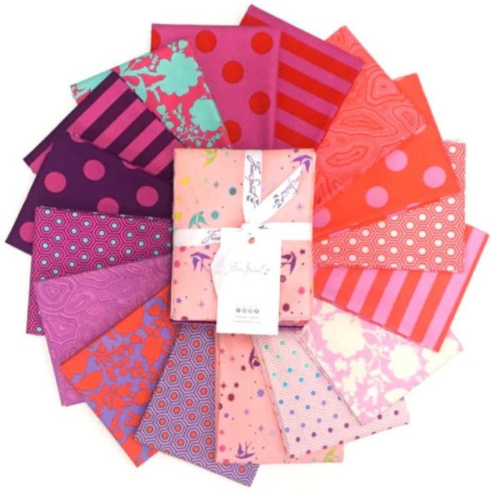 True Colors - Flamingo Fat Quarter Bundle 16pc/bundle - By Tula Pink from Free Spirit Fabrics