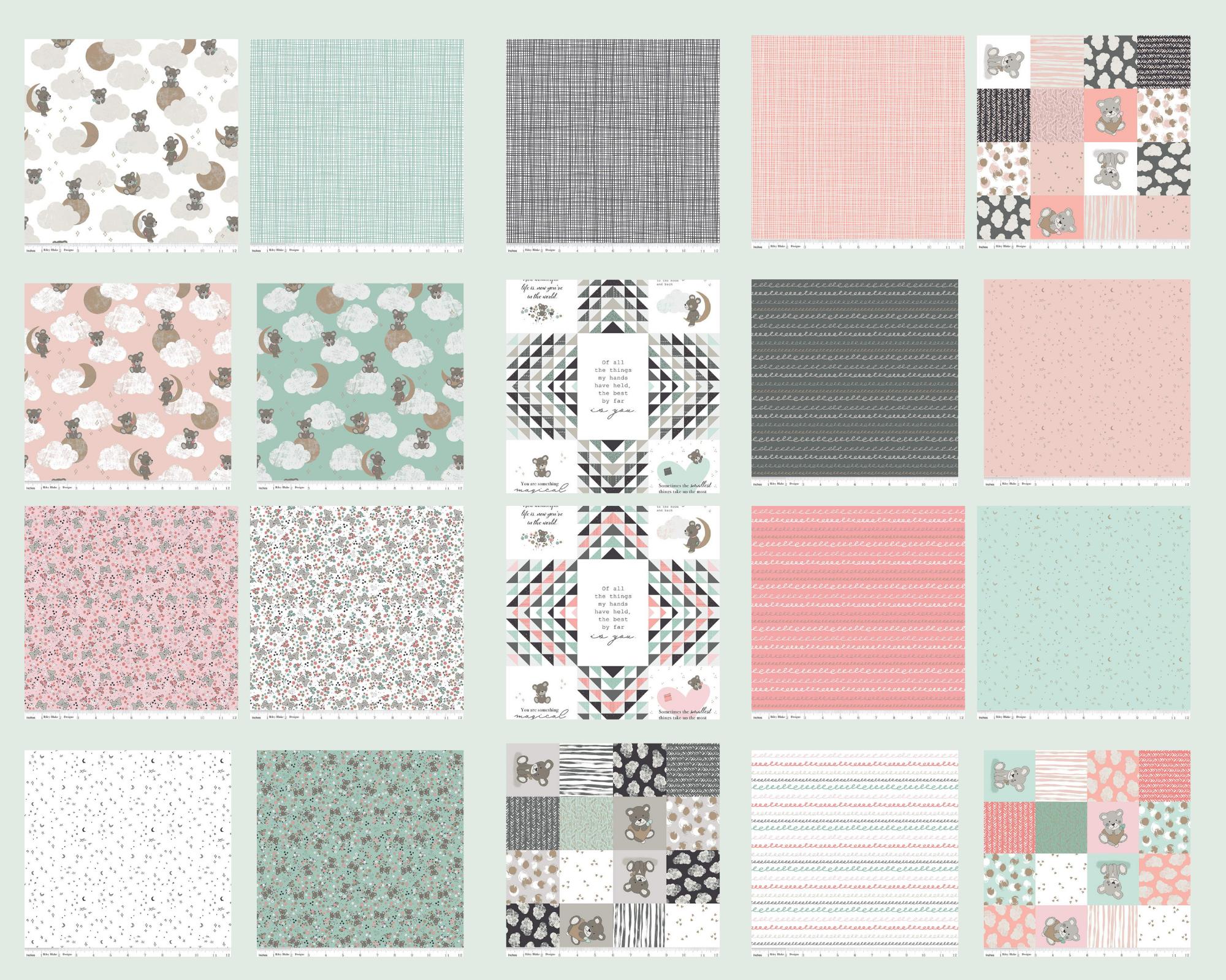 Sleep Tight - Fat Quarter Bundle 20pc/bundle*Metallic* - By Gabrielle Neil Design Studio For Riley Blake