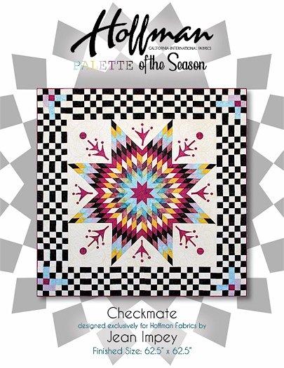 Hoffman 1895 Bali Batik Palette of the Season - Autumn 2020 - Checkmate Quilt Kit