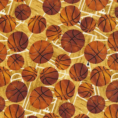 Basketballs - by FabricQuilt