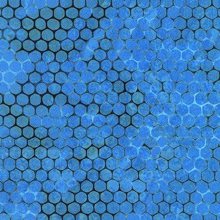 Azula - Blue Dots - By Artisan Batiks For Robert Kaufman