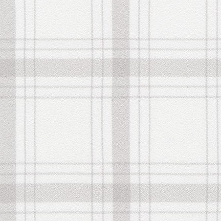Mammoth Flannel Wide - Bone Plaid - by Robert Kaufman Fabrics