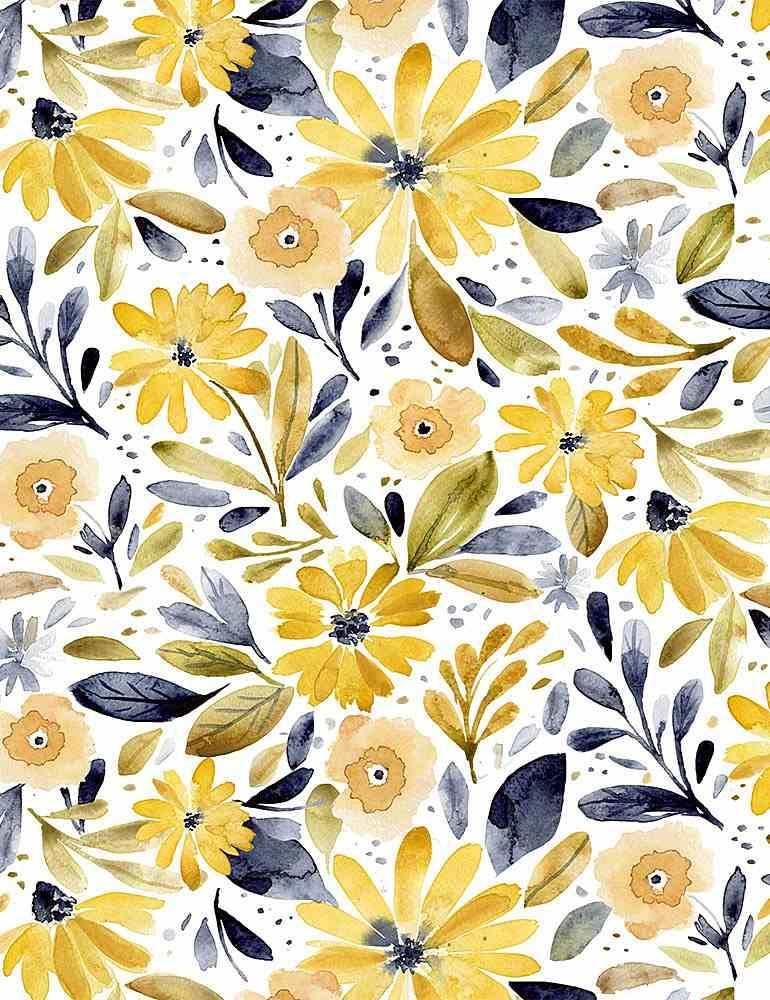 Meant To Bee - Main Floral - By Clara Jean For Dear Stella Designs