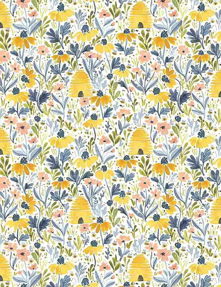 Meant To Bee - Beehive Garden - By Clara Jean For Dear Stella Designs