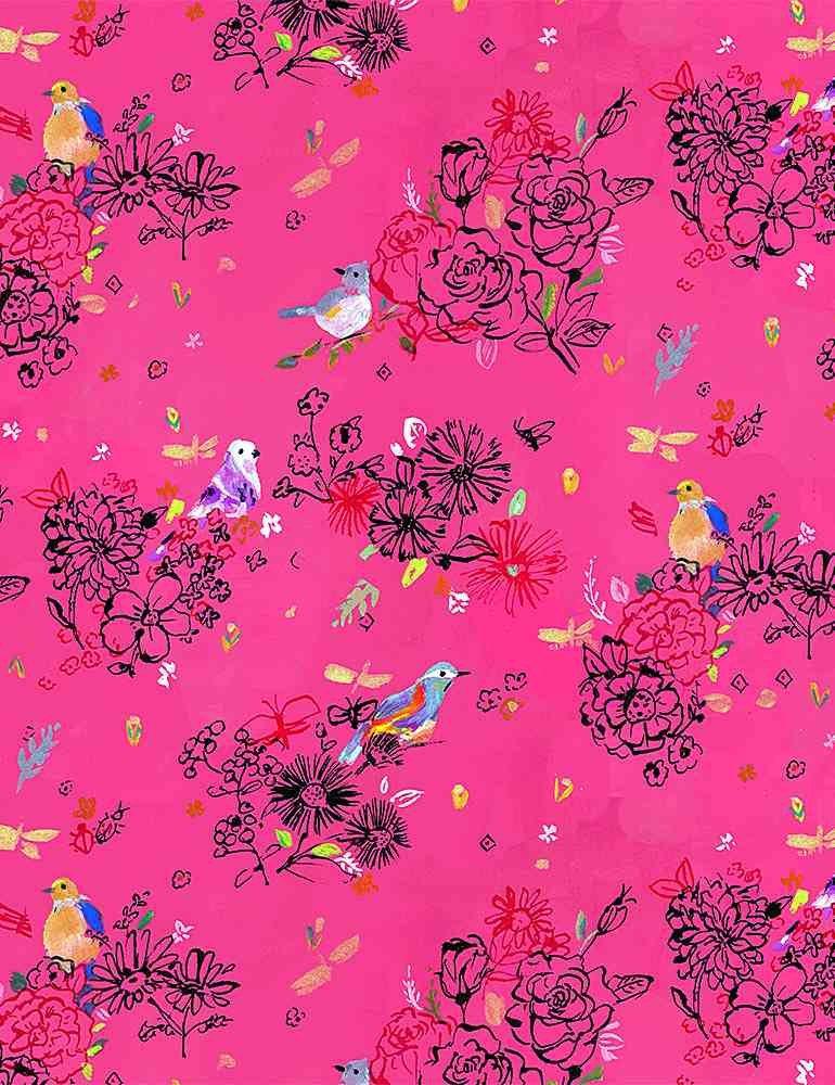 Tree Of Life - Bird Floral - By Dear Stella Fabrics