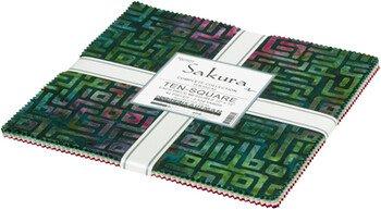 Sakura Batiks - 42 pc Layer Cake Bundle - By Lunn Studios For Robert Kaufman Fabrics