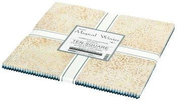 Magical Winter - Layer Cake 42pc/bundle*Metallic* - By Lunn Studios For Robert Kaufman Fabrics