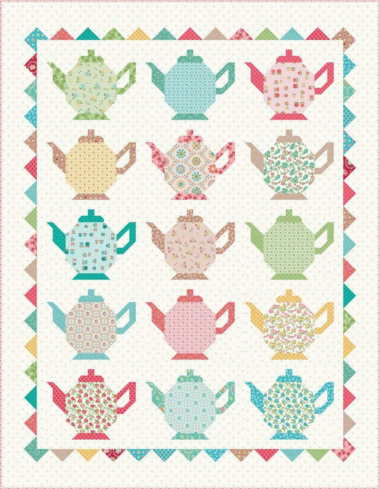 Teapot Quilt Kit by Lori Holt of Bee in my Bonnet for Riley Blake