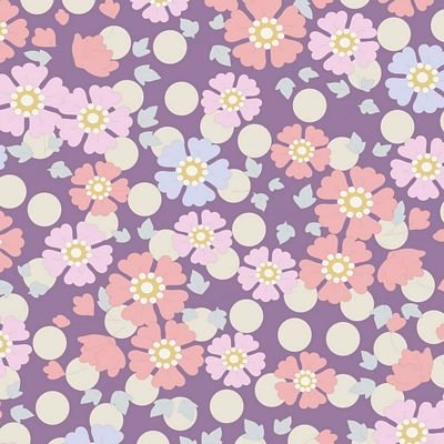 Tilda Plum Garden - Windflower, Lavender