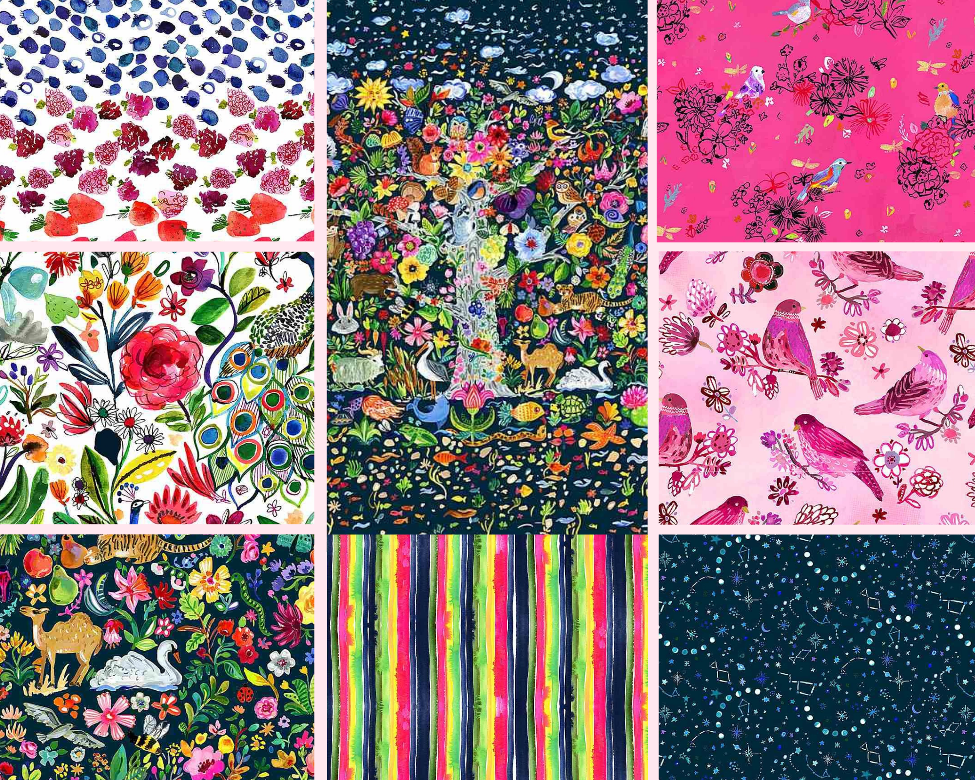 Tree Of Life - Fat Quarter Bundle 8pc/bundle - By Dear Stella Fabrics