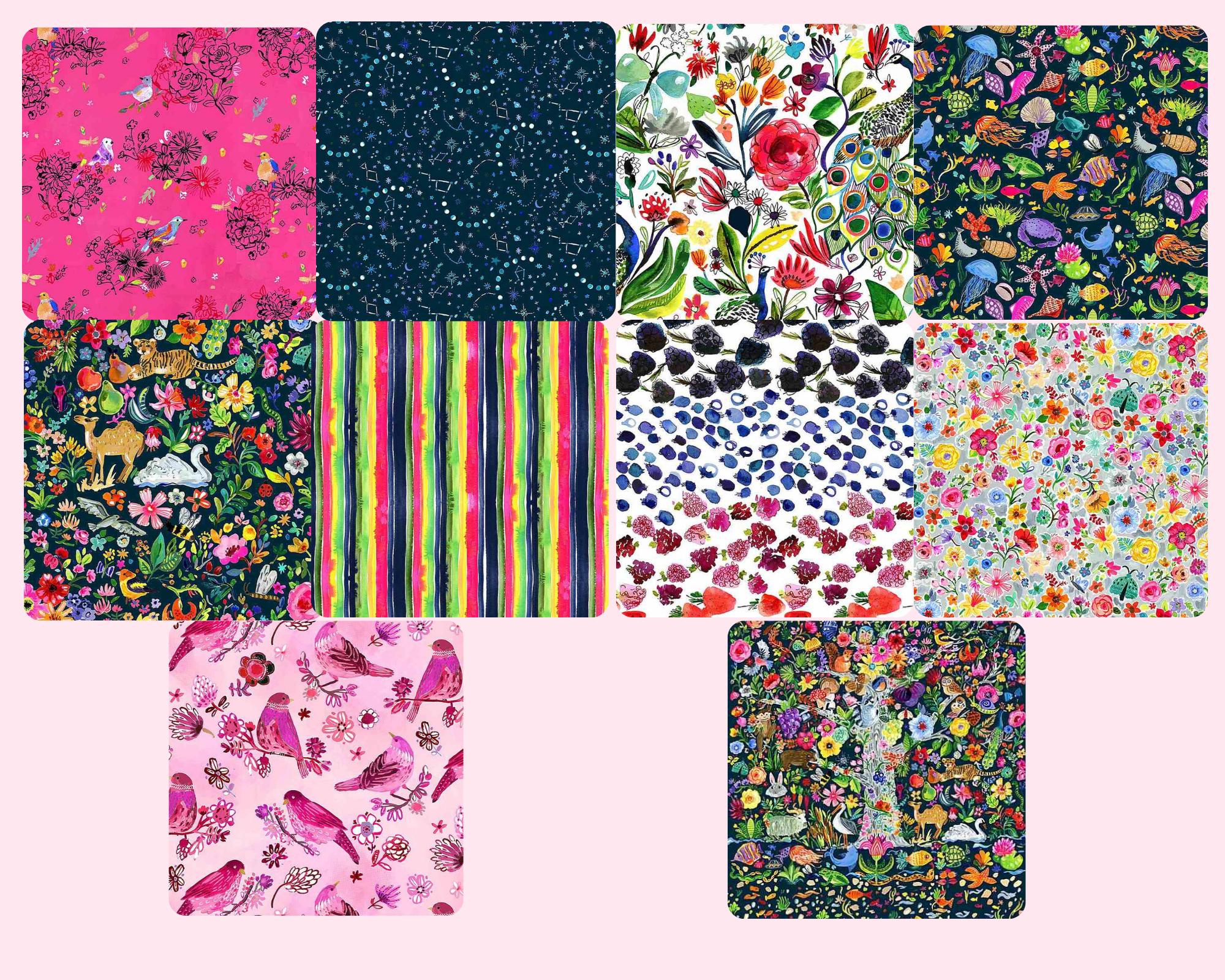 Tree Of Life - Fat Quarter Bundle 10pc/bundle - By Dear Stella Fabrics
