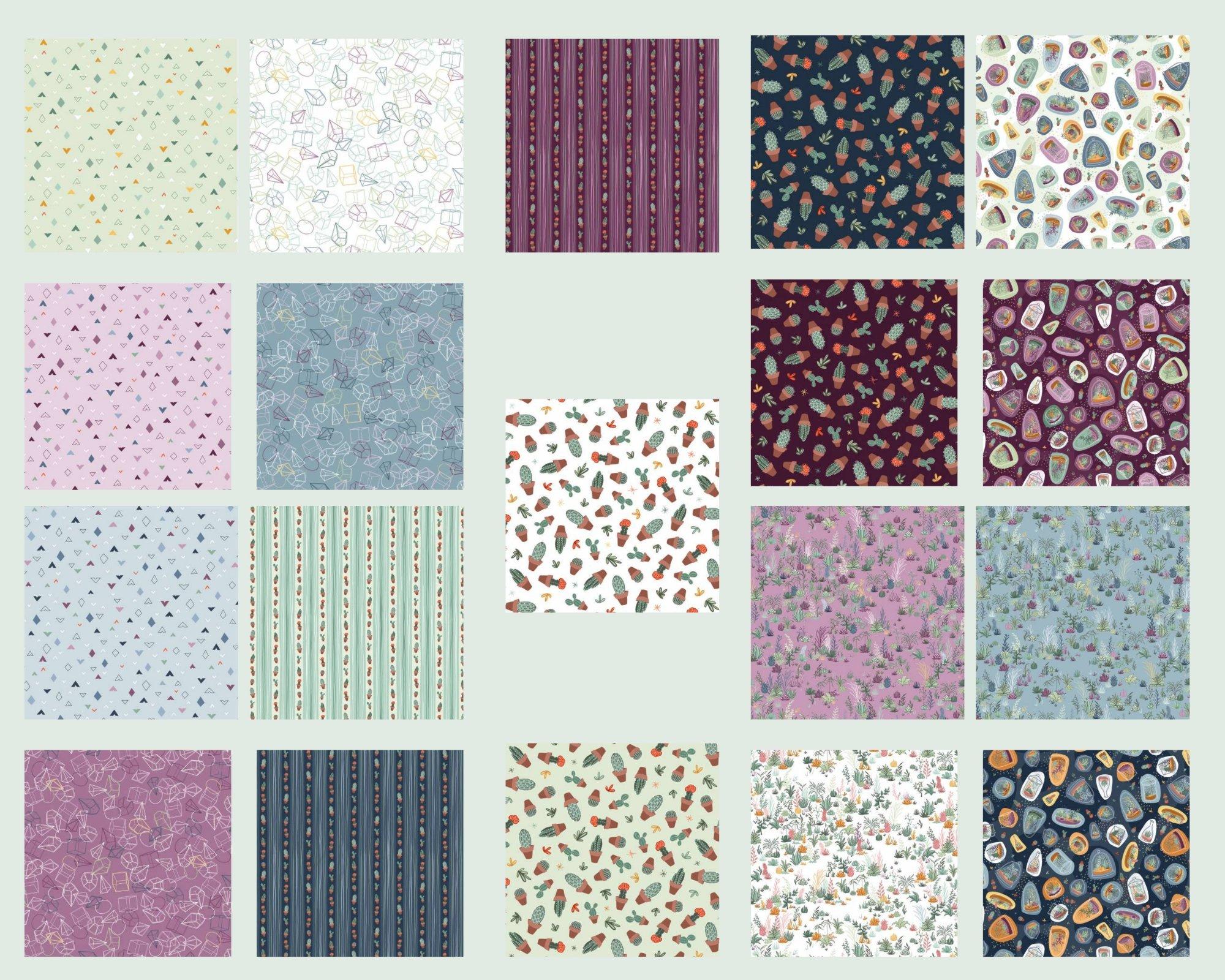 Greenhouse Gardens - Fat Quarter Bundle 19pc/bundle - By Alicia Dujets For Michael Miller Fabrics