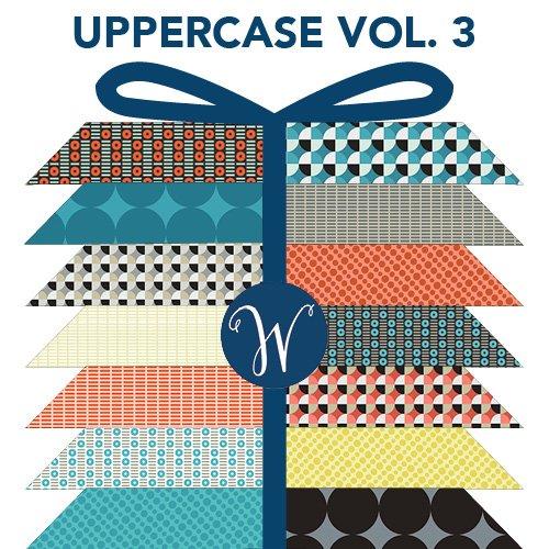 Uppercase Vol.3 (Circular Logic) - Fat Quarter Bundle - By Janine Vangool for Windham Fabrics