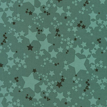 Moonlight - Jade Stellar*Metallic* - By Wishwell For Robert Kaufman Fabrics