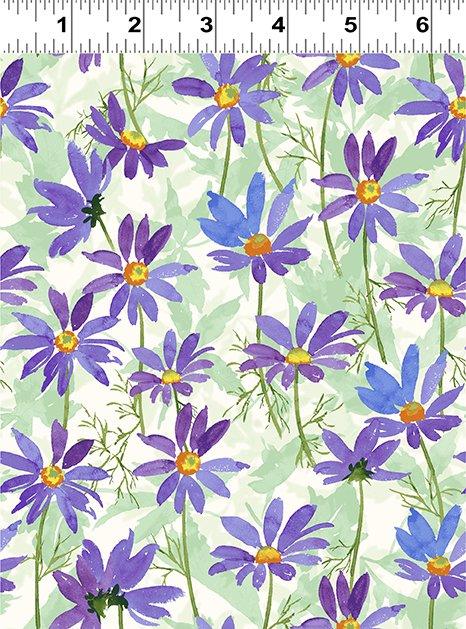 Flower Shop - Purple Daisy - By Jim Ishikawa For Clothworks Fabric