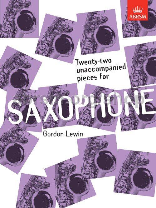 22 Unaccompanied Pieces for Sax - Lewin