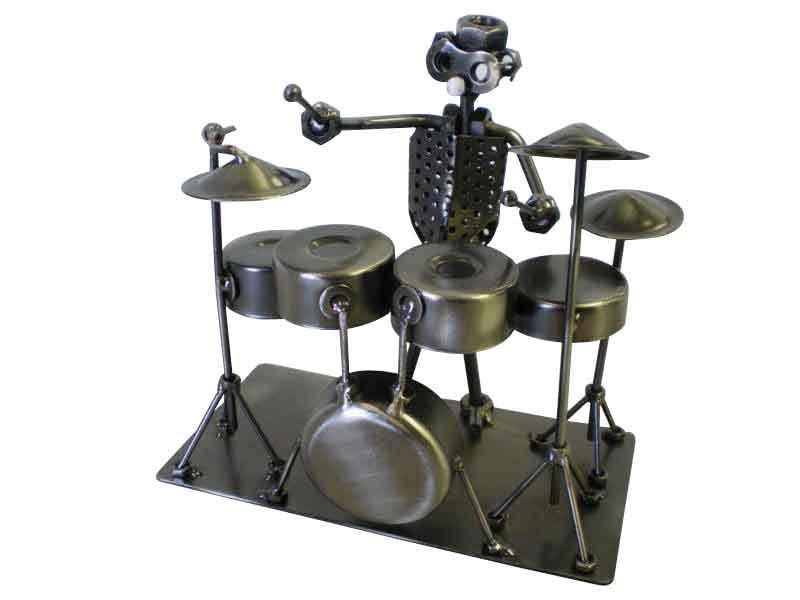 Drummer Metal Sculpture