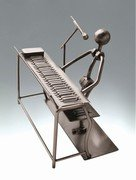 Keyboard Singer Metal Sculpture