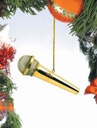 Microphone Ornament - Gold