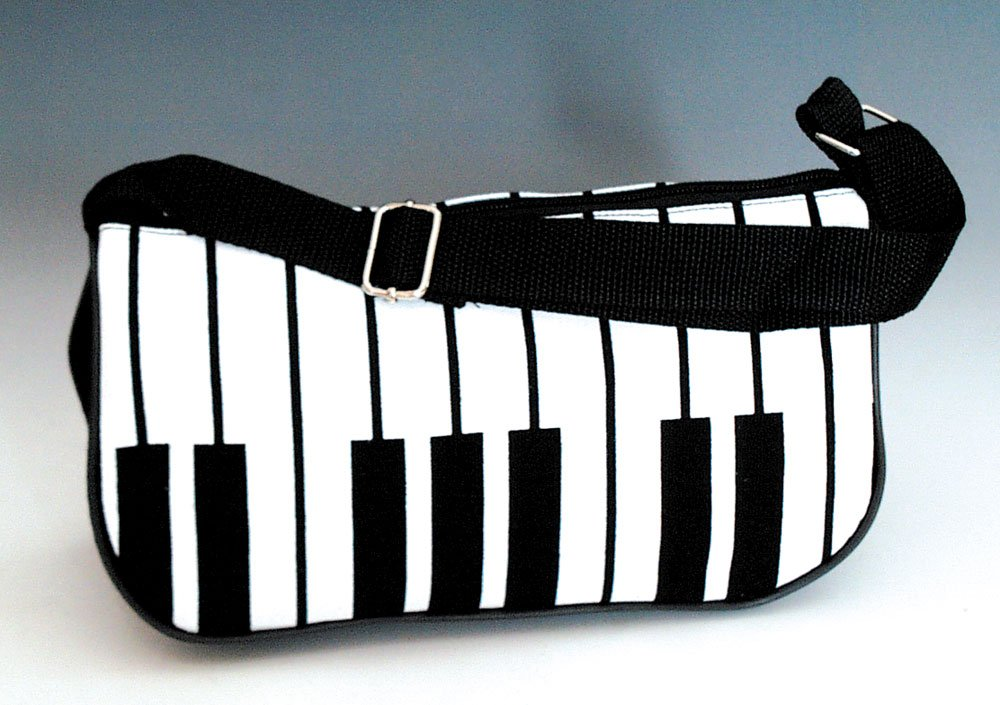 Piano Key Purse - Black and White