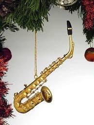 Alto Sax Ornament - Gold